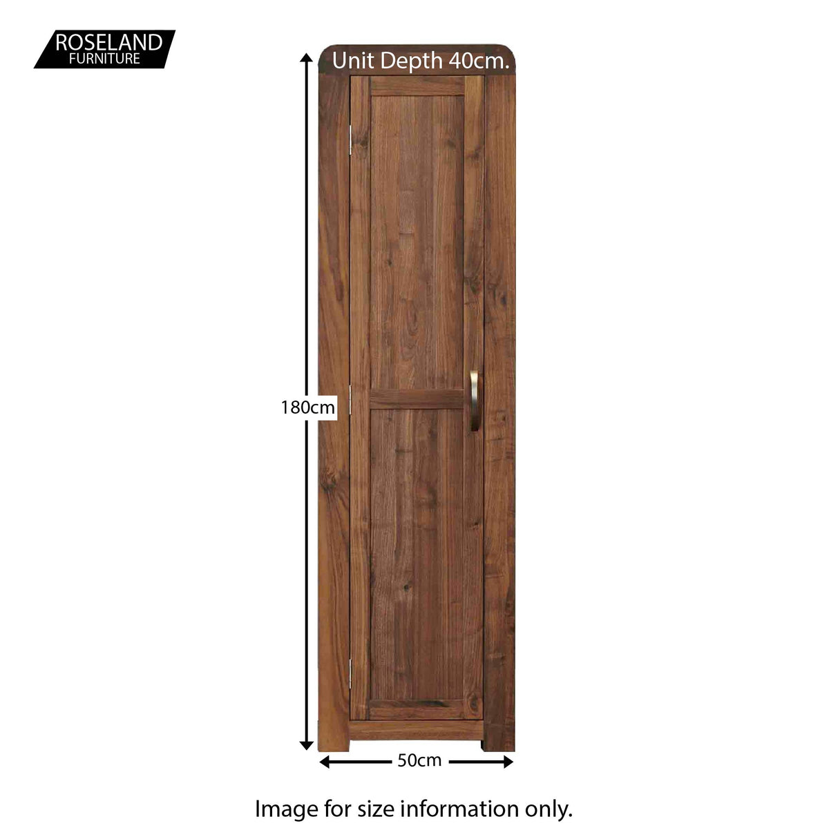 Salem Walnut Tall Shoe Cupboard Storage Unit - Size Guide
