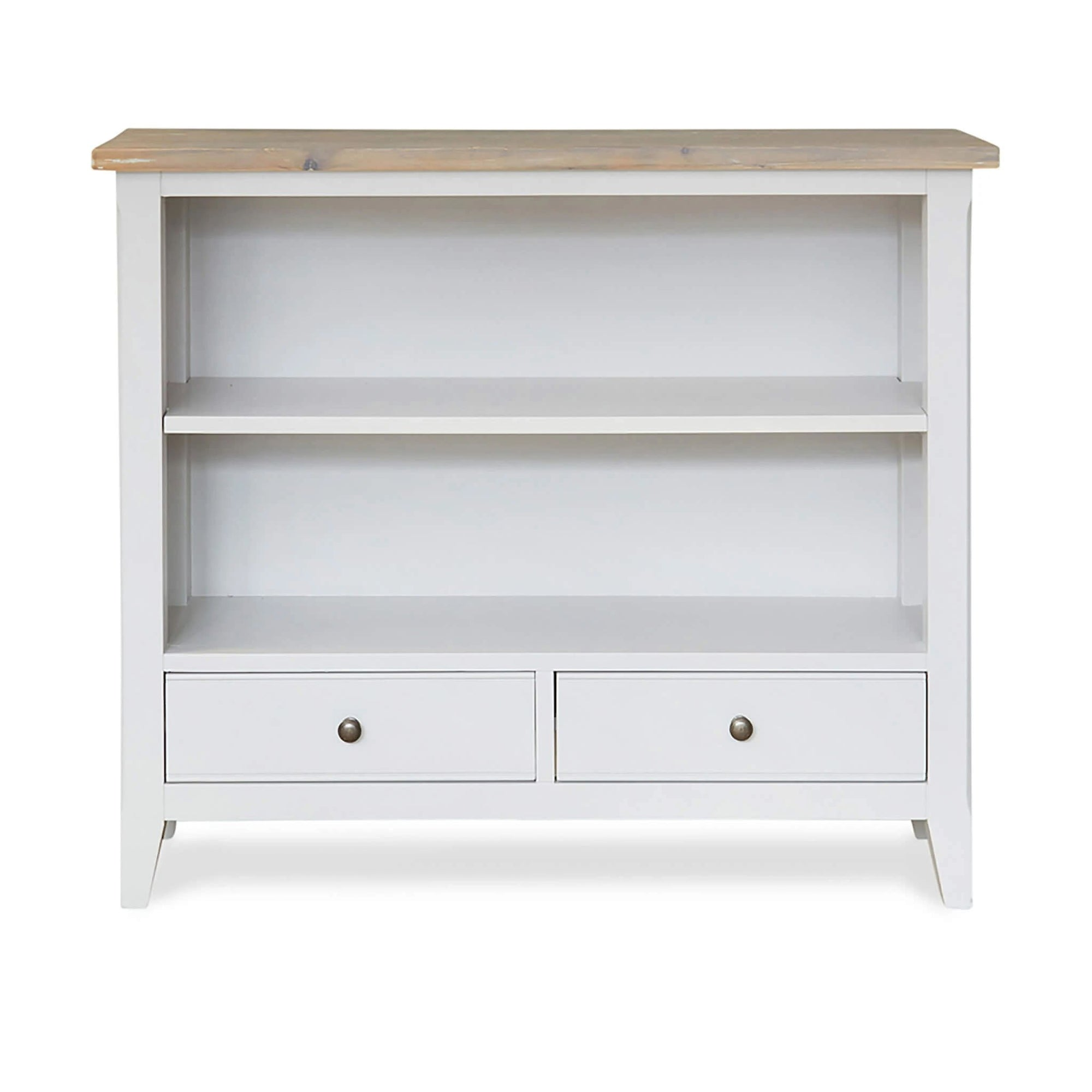 Signature Grey Low Bookcase by Roseland Furniture