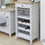 Signature Grey Wine Rack - Glass Storage Cabinet