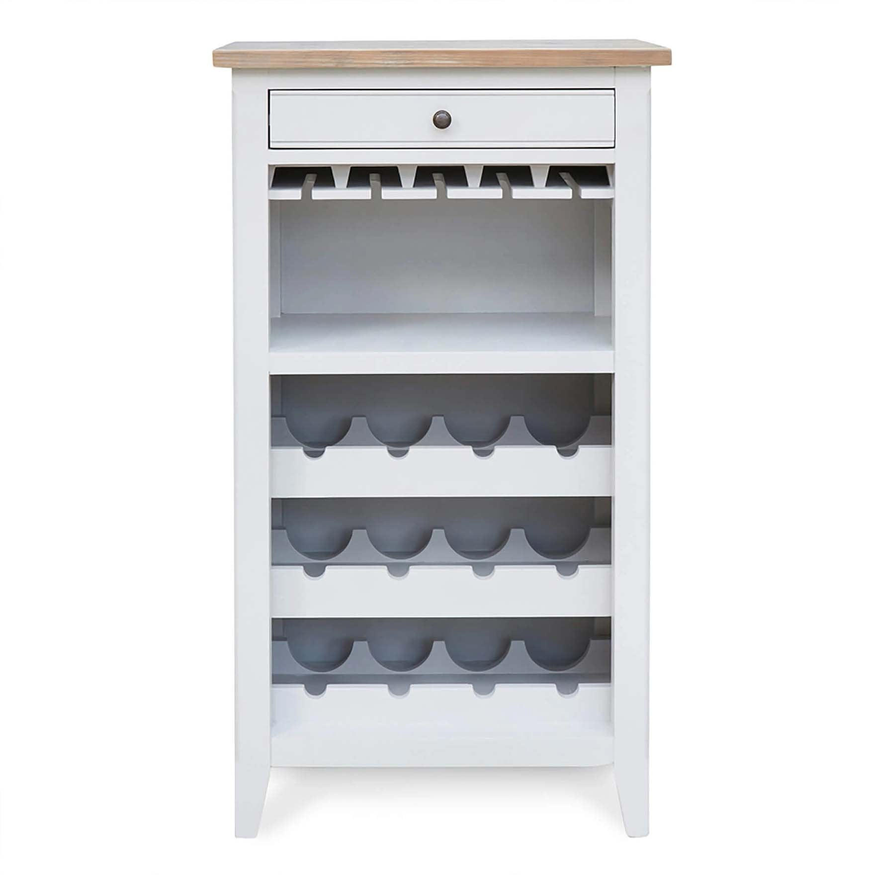 Signature Grey Wine Rack - Glass Storage Cabinet by Roseland Furniture