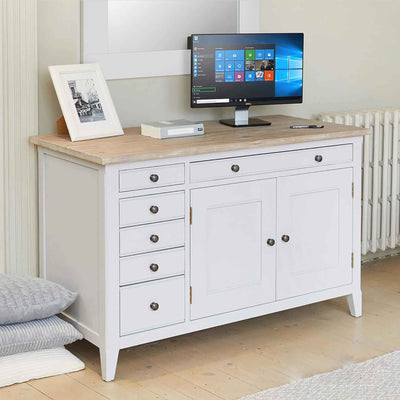 Signature Grey Hidden Home Office Desk