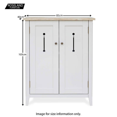 Signature Grey Shoe Storage Cupboard - Size Guide