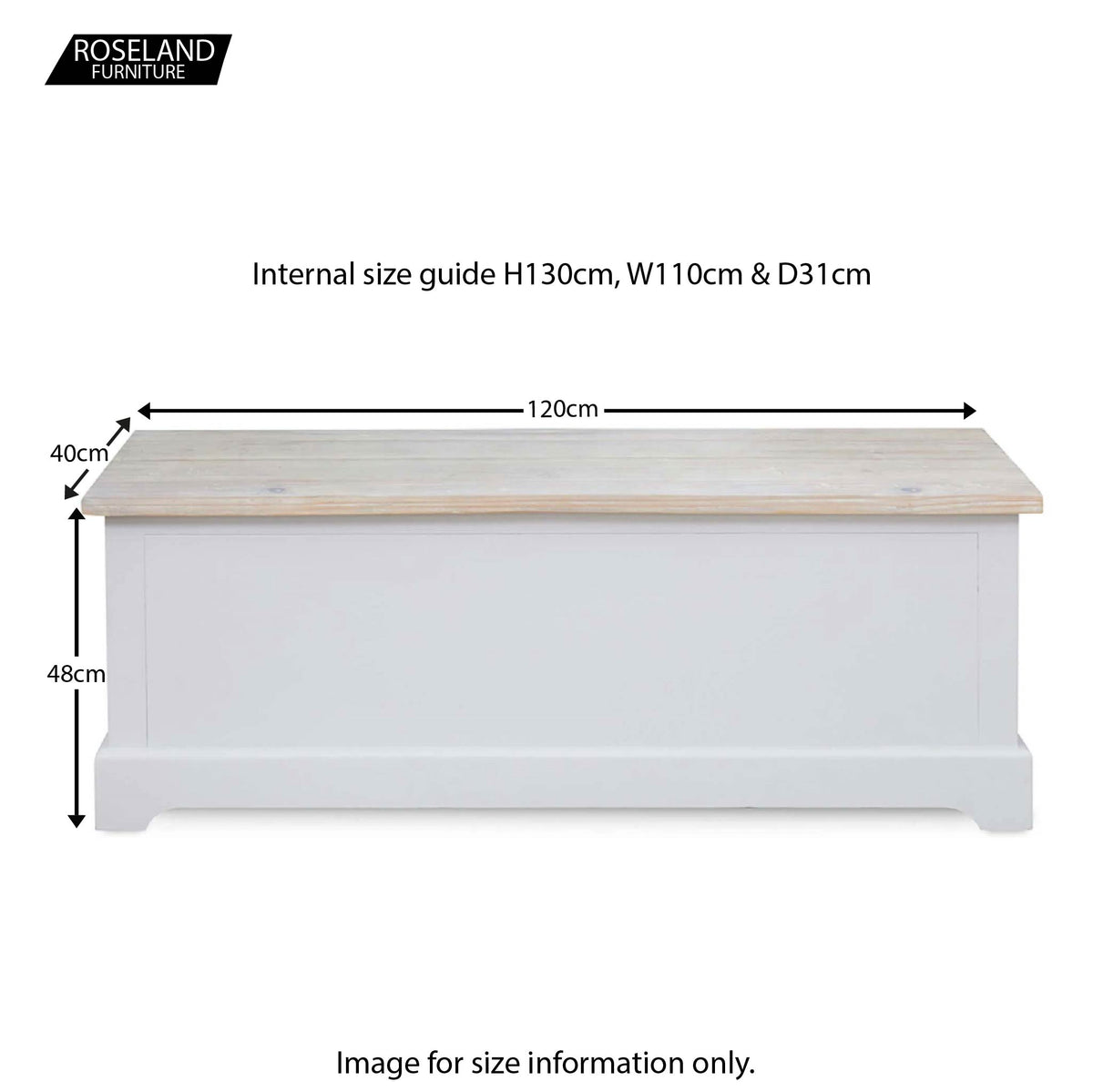 Signature Storage Bench - Size Guide