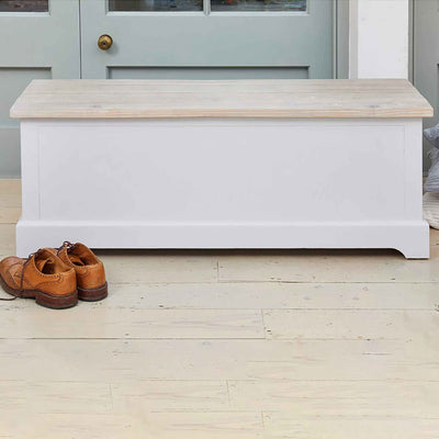 Signature Grey Hallway Storage Bench