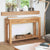 Mobel Oak Console Table by Roseland Furniture