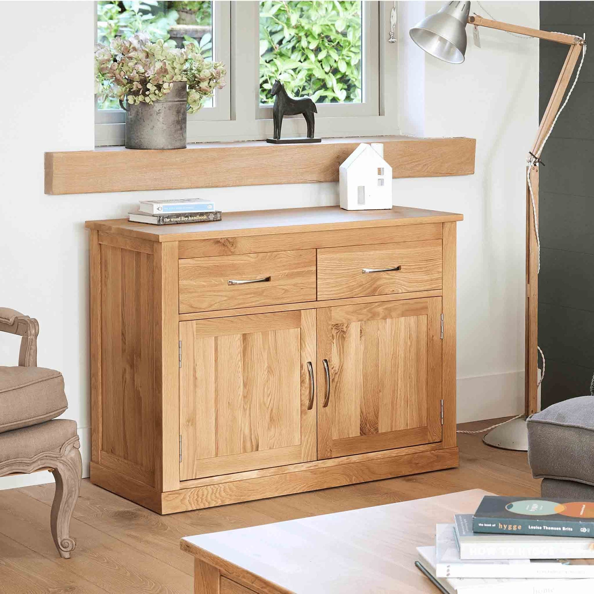 Mobel Oak Small Sideboard by Roseland Furniture