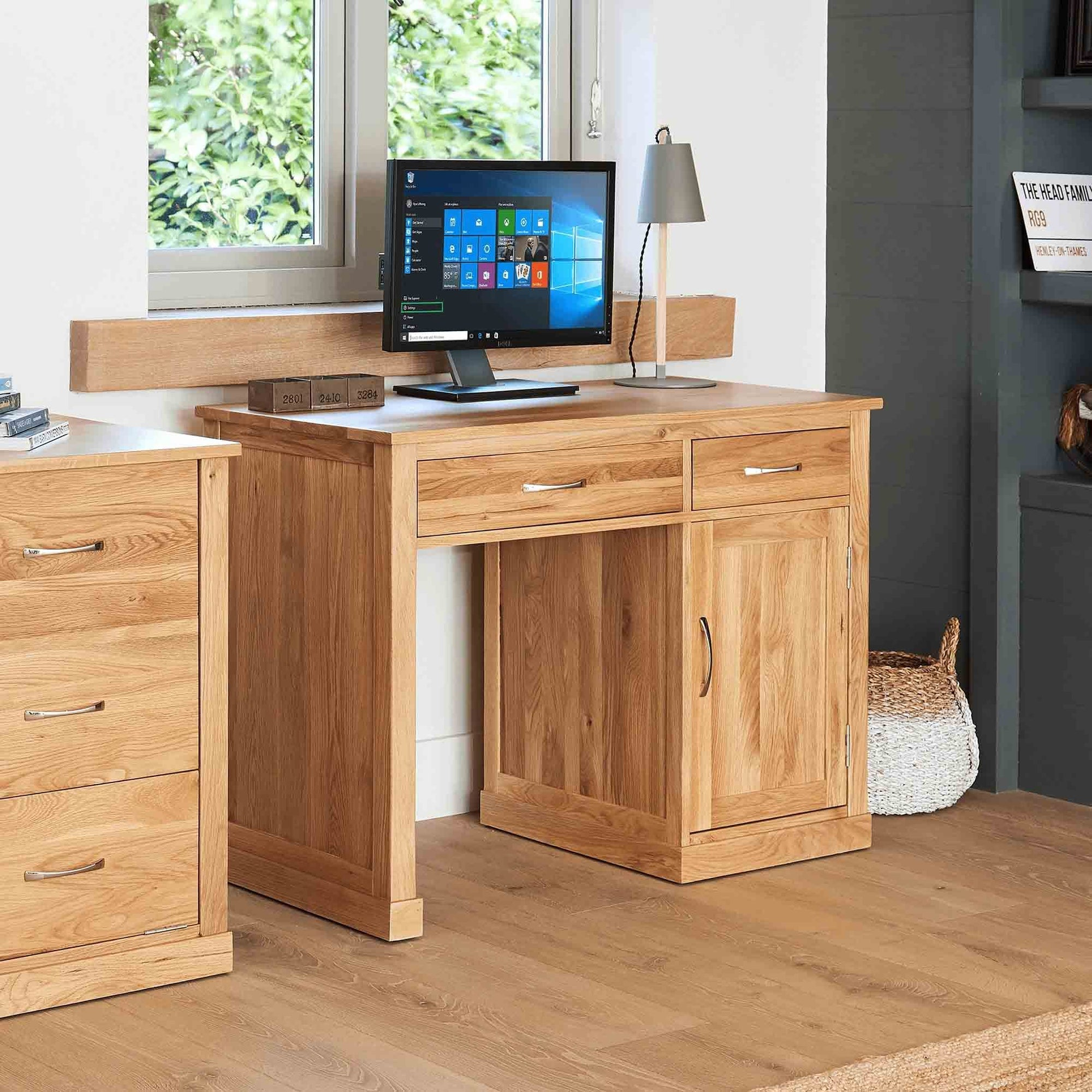 Mobel Oak Small Desk by Roseland Furniture