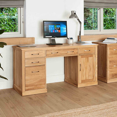 Mobel Oak Twin Desk