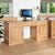 Mobel Oak Large Desk by Roseland Furniture