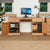 Mobel Oak Large Desk with doors open