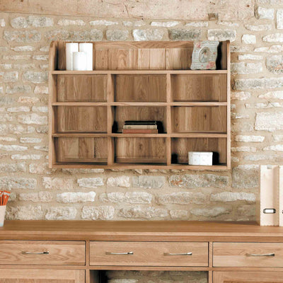 Mobel Oak Wall Rack