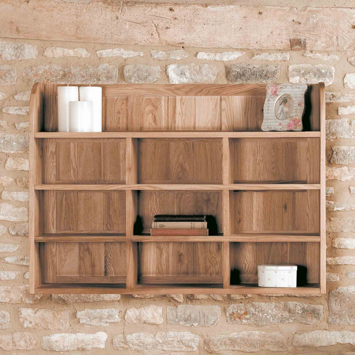 Mobel Oak Wall Rack by Roseland Furniture