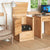 Mobel Oak Printer Cabinet with doors open