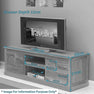 Dimensions - Mobel Oak 146cm TV Stand