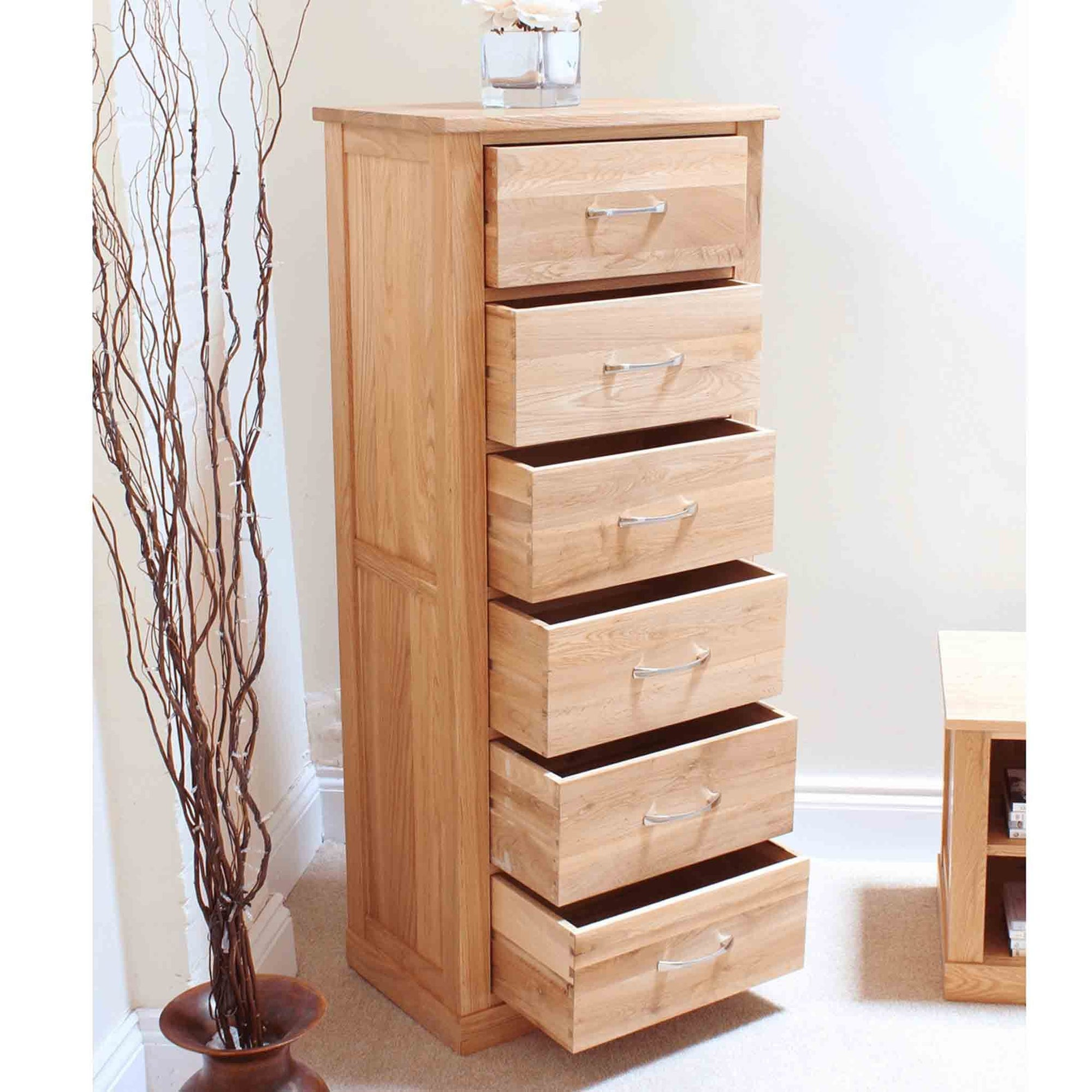 Mobel Oak Tallboy by Roseland Furniture