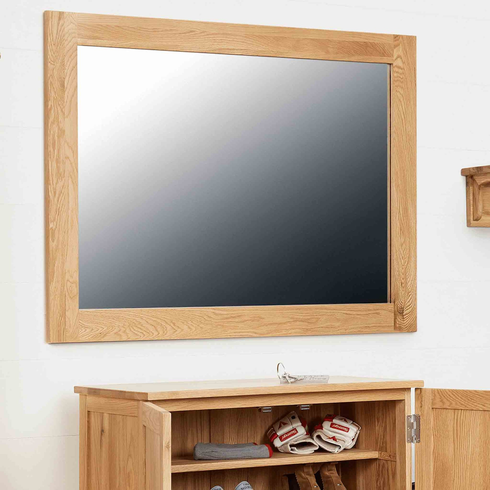 Mobel Oak Wall Mirror by Roseland Furniture