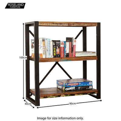 Urban Chic Low Bookcase - Size Guide