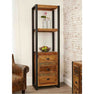 The Urban Chic Industrial Reclaimed Wood Tall Bookcase with Drawers from Roseland Furniture
