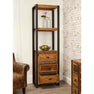 The Urban Chic Industrial Reclaimed Wood Tall Display Cabinet with Drawers from Roseland Furniture