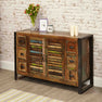 The Urban Chic Industrial Reclaimed Wood Sideboard with Steel Frame from Roseland Furniture