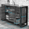 Dimensions of The Urban Chic Industrial Reclaimed Wood Sideboard