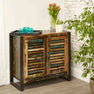 The Urban Chic Industrial Reclaimed Wood 2 Door Sideboard from Roseland Furniture