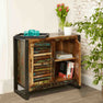The Urban Chic Industrial Reclaimed Wood 2 Door Sideboard with Steel Frame