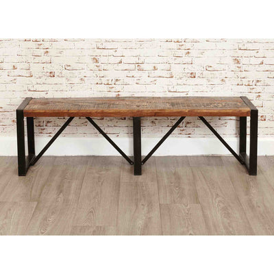 Urban Chic Large Dining Bench - Lifestyle