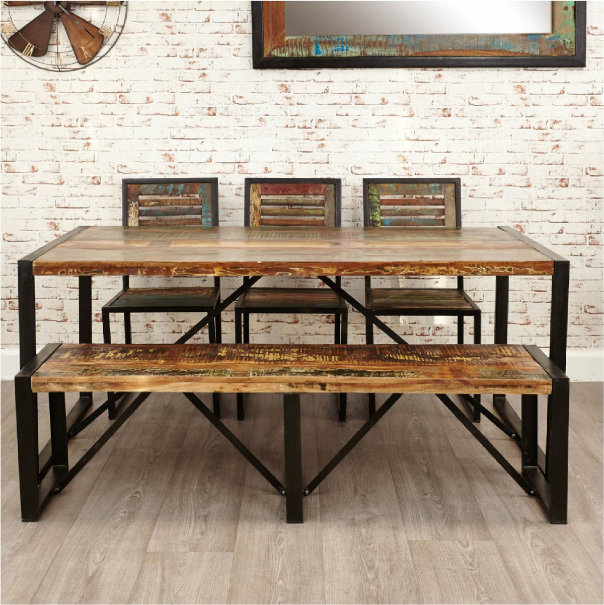 Urban Chic Large Dining Bench - Lifestyle 2