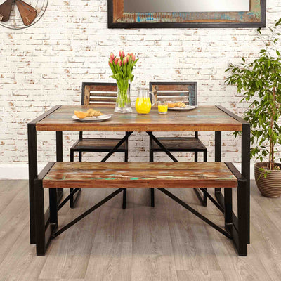 Lifestyle image of The Urban Chic Industrial Reclaimed Wood Small Dining Table