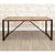 The Urban Chic Large Industrial Reclaimed Wood Dining Table with Steel Frame from Roseland Furniture