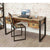 The Urban Chic Industrial Reclaimed Wood Large Office Desk from Roseland Furniture