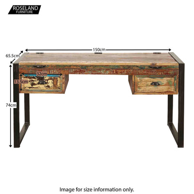 Urban Chic Large Office Desk - Size Guide