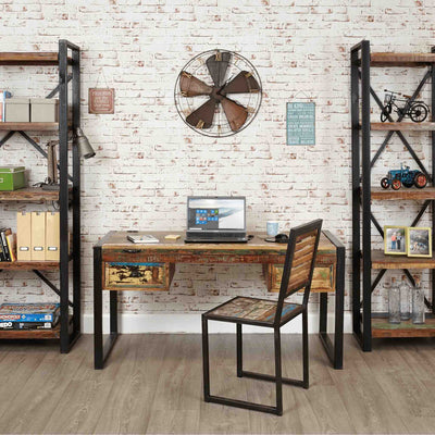 Lifestyle image The Urban Chic Industrial Reclaimed Wood Large Work Desk