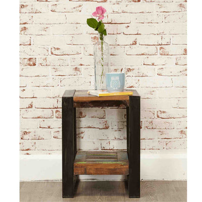 The Urban Chic Industrial Reclaimed Wood Low Stand from Roseland Furniture