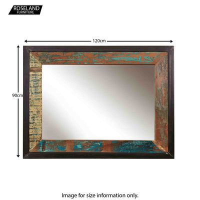 Urban Chic Framed Rectangular Mirror - Size Guide