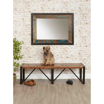 Lifestyle image of The Urban Chic Large Industrial Reclaimed Wood Mirror
