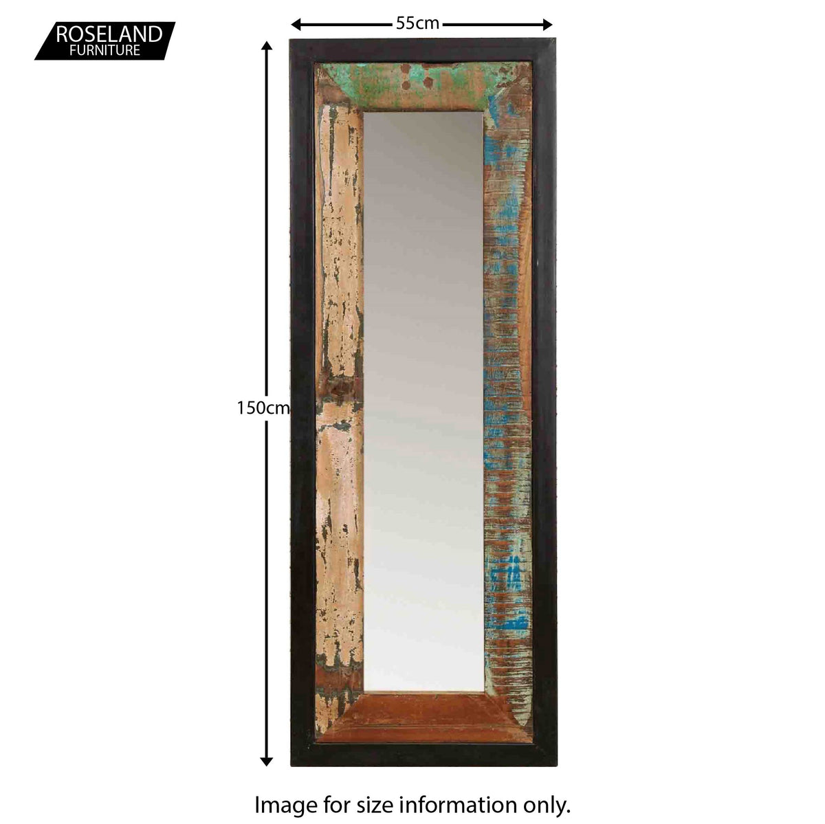 Urban Chic Long Mirror - Size Guide