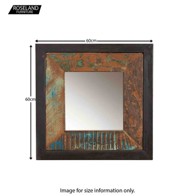 Urban Chic Small Framed Mirror - Size Guide