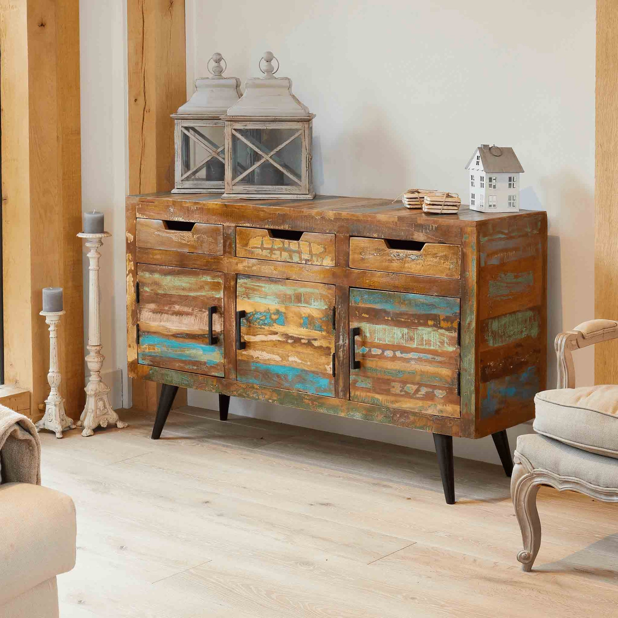 Coastal Chic Large Sideboard by Roseland Furniture