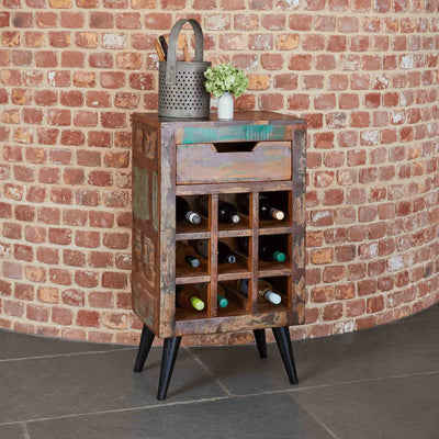 Coastal Chic Wine Rack / Lamp Table by Roseland Furniture