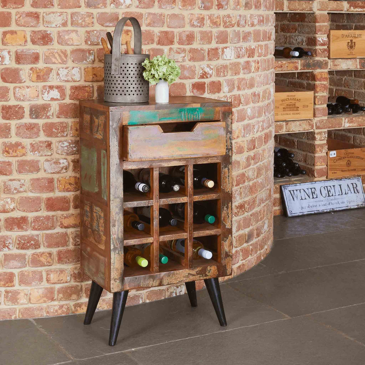 Coastal Chic Wine Rack / Lamp Table