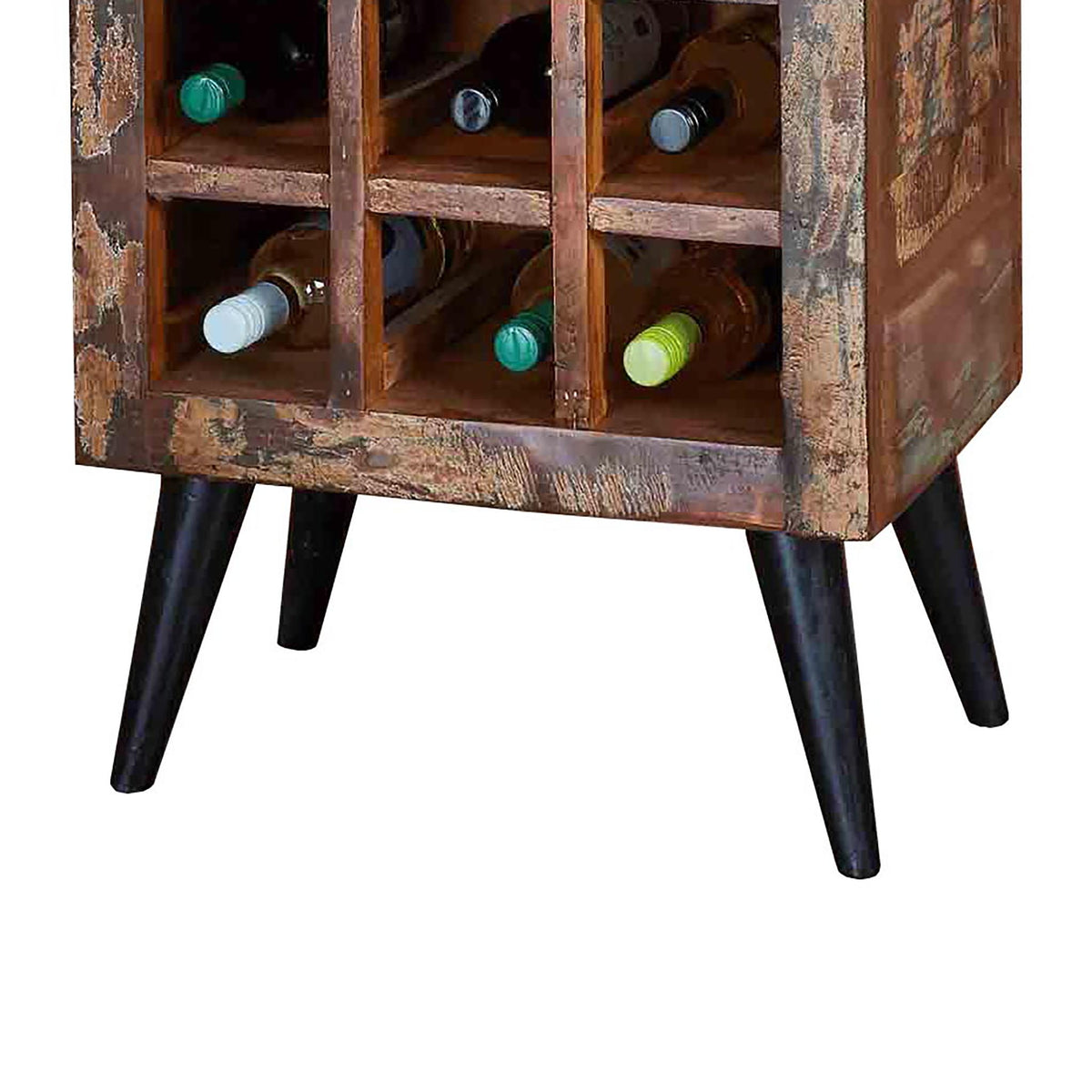 Coastal Chic Wine Rack / Lamp Table - Close Up of Legs