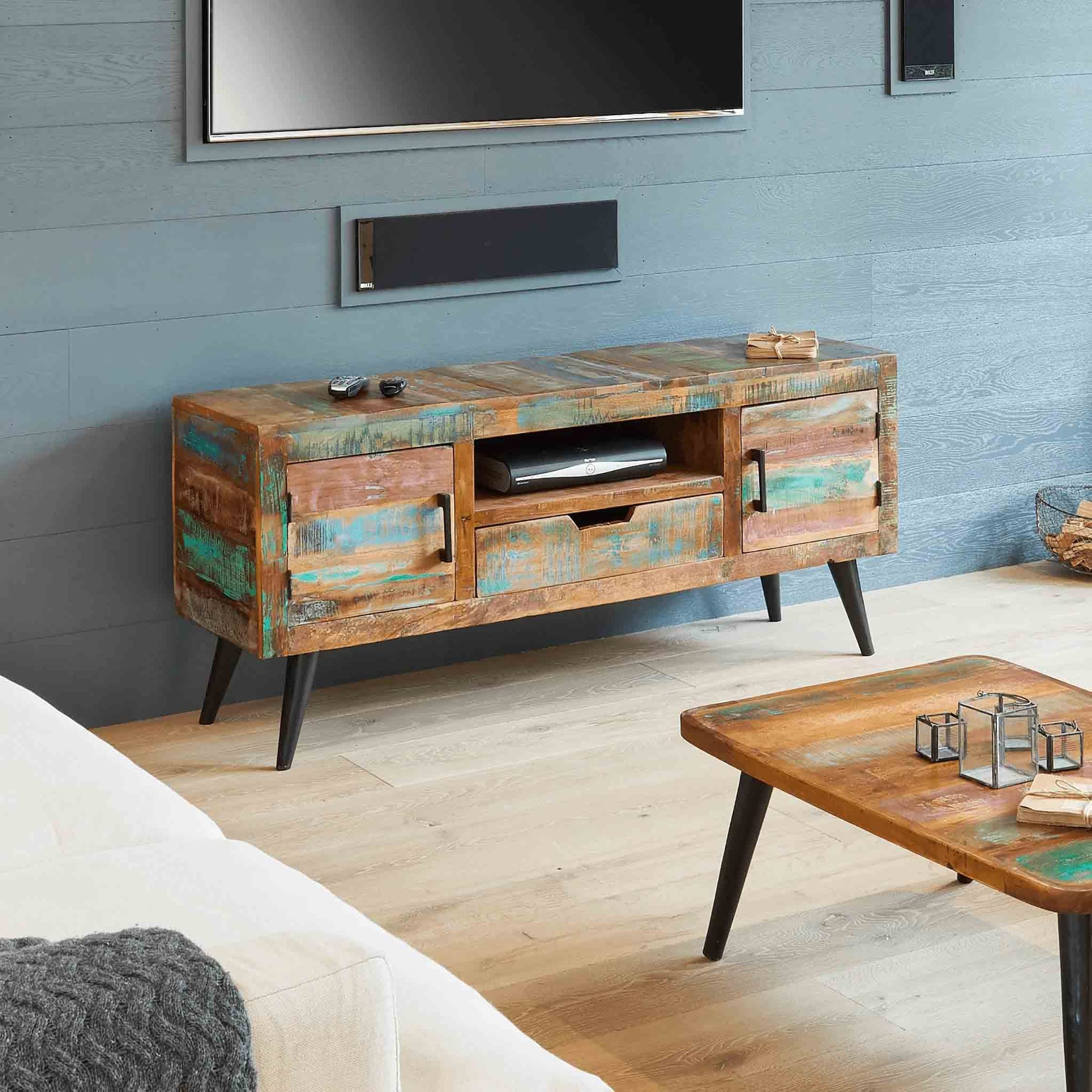 Coastal Chic 140cm TV Stand by Roseland Furniture