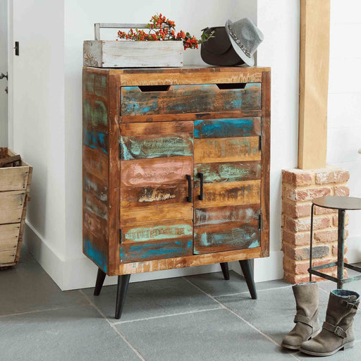 Coastal Chic Shoe Cupboard by Roseland Furniture