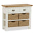 The Daymer Cream Painted Oak Console Table with Storage Baskets