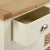Open drawer view on The Daymer Cream Large 2 Door Oak Sideboard Cabinet