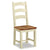 The Daymer Cream Slatted Oak Seat Dining Chair from Roseland Furniture