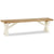 The Daymer Cream Indoor Kitchen Cross Bench from Roseland Furniture