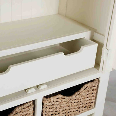 Close up of open drawer on The Daymer Cream Kitchen Larger Storage Cupboard